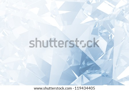 Blue winter facet background - stock photo