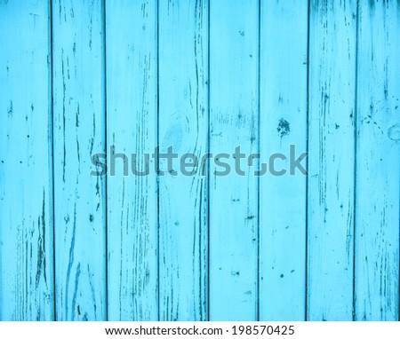 Blue wood background - stock photo