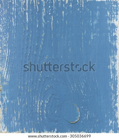 Blue wood board, as background - stock photo