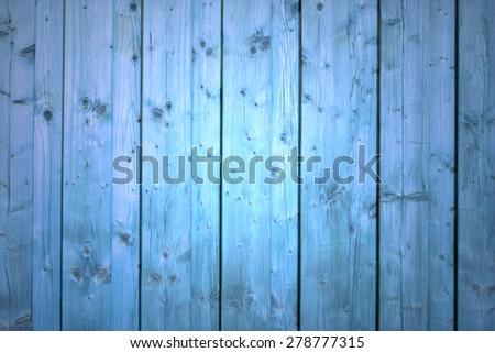 Blue wood planks - stock photo
