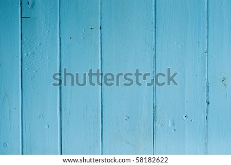 Blue wood texture - stock photo