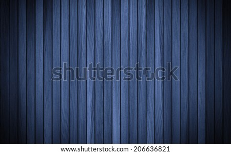 Blue wood texture background. Shadow and vignette effect. The blue wood texture with natural patterns. Texture of Wood blue panel for background vertical. - stock photo