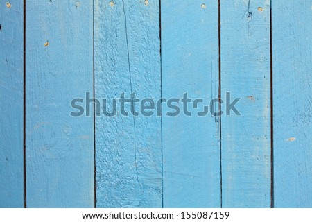 Blue wooden background with vertical stripes - stock photo