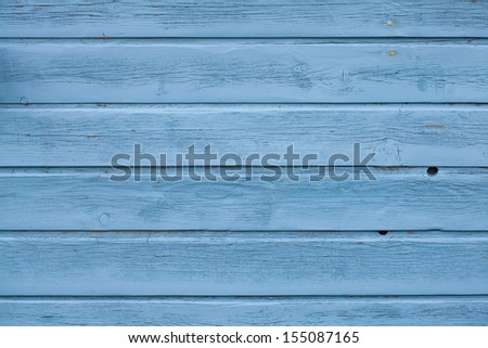Blue wooden panel background - stock photo