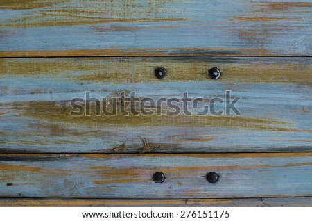 Blue wooden rustic background