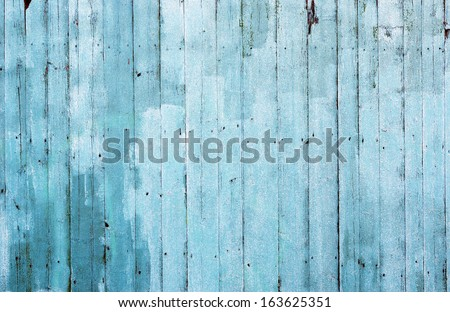 blue wooden texture great as background - stock photo