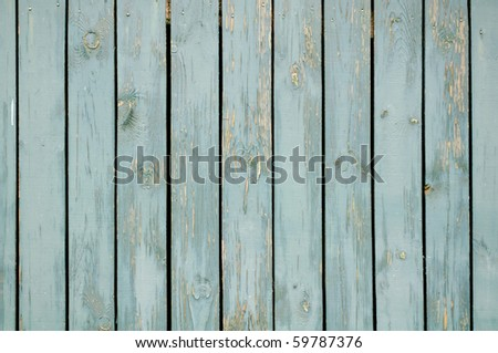 Blue Wooden Wall - stock photo