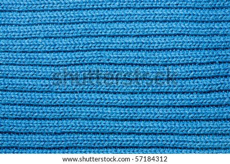 blue wool texture - stock photo