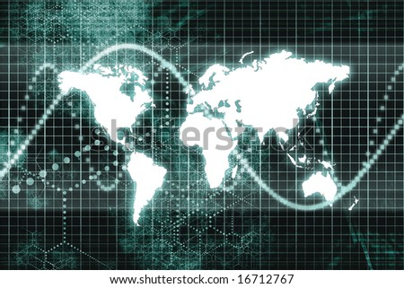 Blue Worldwide Business Communications Performance Abstract Background