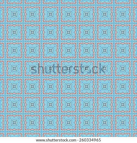 blue woven patterns background - stock photo