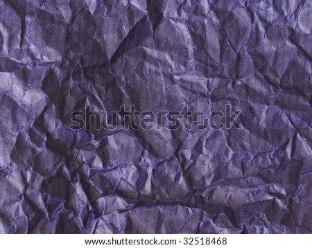 blue wrinkled paper background - stock photo