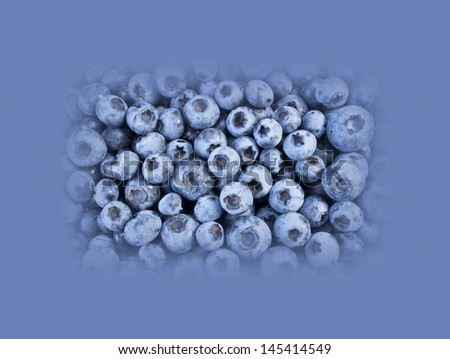 Blueberries - abstract for background