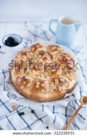 blueberries buns - stock photo