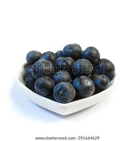 blueberries in cup on a white background.isolated