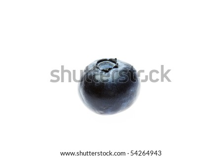 blueberries  isolated on white - stock photo
