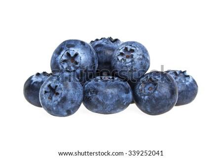 Blueberries isolated on white background - stock photo