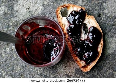 Blueberries jam - stock photo