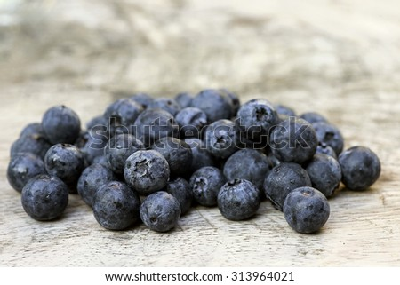 Blueberry antioxidant organic superfood for healthy eating and nutrition