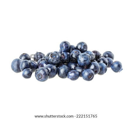 blueberry berry isolated on white background - stock photo