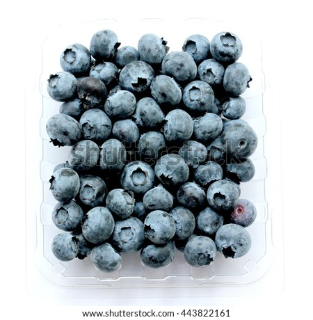 blueberry (bog whortleberry, great bilberry) isolated on white background - stock photo
