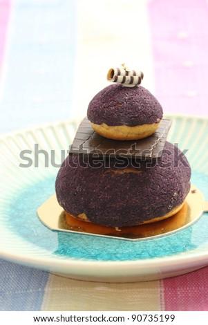 Blueberry fancy cake - stock photo
