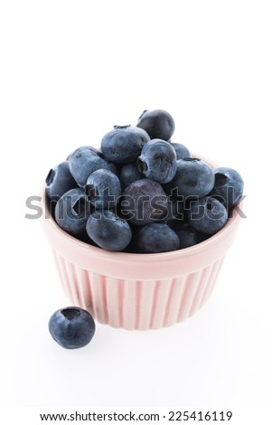 Blueberry isolated on white