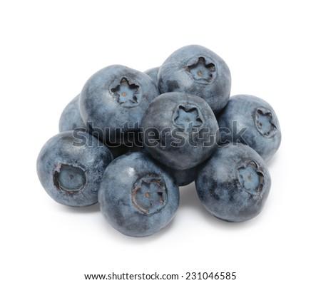 Blueberry isolated on white background  - stock photo