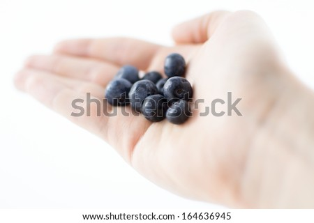 Blueberry's Held in Hand