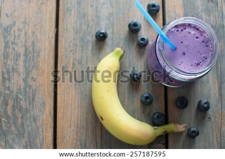 Blueberry smoothie  - stock photo
