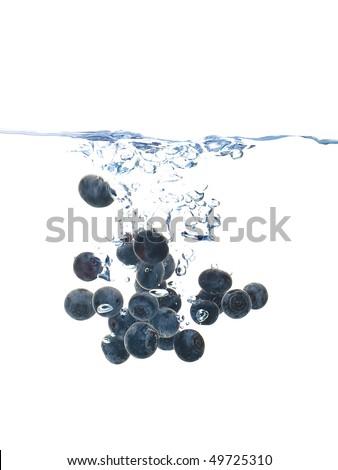 Blueberry splash - stock photo