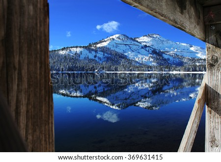 Bluebird Day at Donner Lake - stock photo