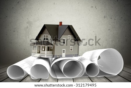 Blueprint. - stock photo