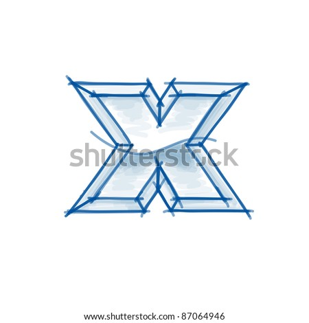 Simple cute shape heaven figure element stock vector 652177162 blueprint font sketch letter x marker drawing bitmap copy my vector malvernweather Choice Image