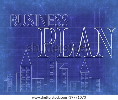 Blueprint business plan design stock illustration 39771073 blueprint of business plan design malvernweather Image collections