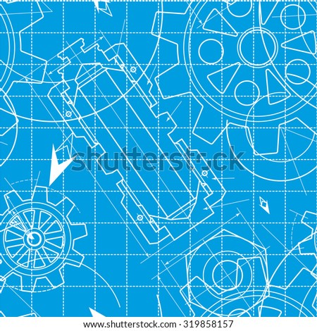 Blueprint pattern gears ilustracin de stock319858157 shutterstock blueprint pattern with gears malvernweather Images