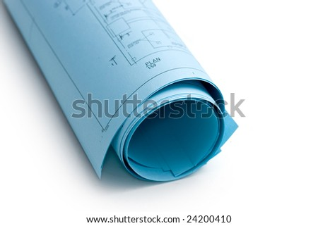 Blueprint role - stock photo