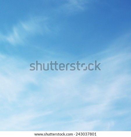 Blues soft in clouds sky - stock photo