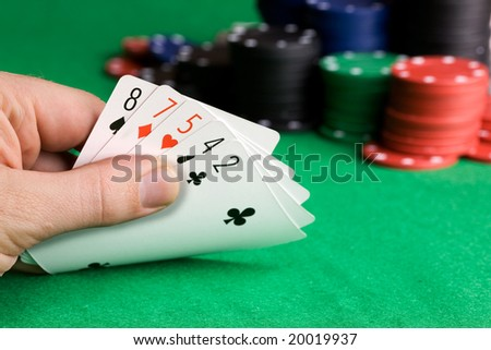Bluffing with a poor poker hand