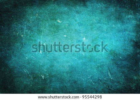 Bluish green colored grunge texture or background with space for text or image - stock photo