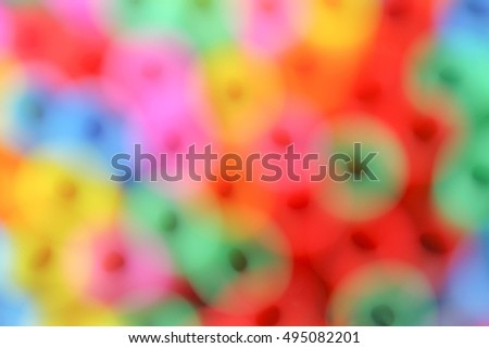Blur Abstract Background  Colorful drinking striped straw. Space for text.