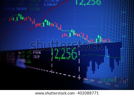 blur and defocus image of  stock market chart 