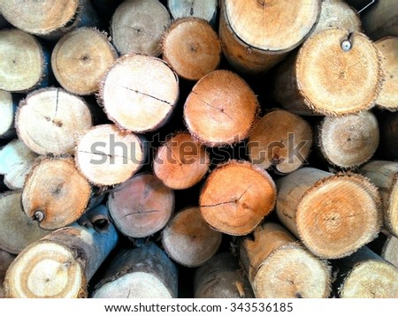 Blur array of  wood Timber abstract background. - stock photo