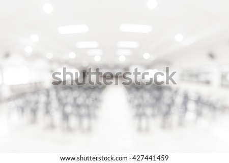 Blur auditorium - stock photo
