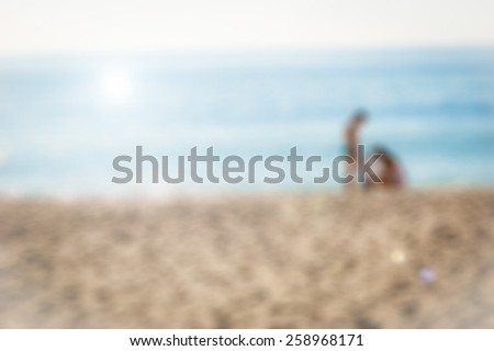 Blur background, family vacation theme  - stock photo