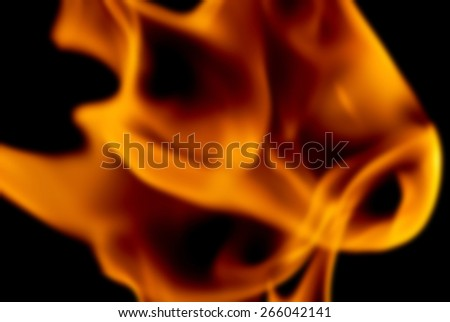 Blur Background Image of the Flames from a Torch at Night  - stock photo
