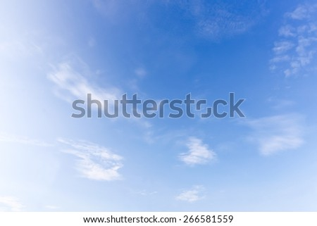 Blur background of blue sky cloudy. nature background. - stock photo