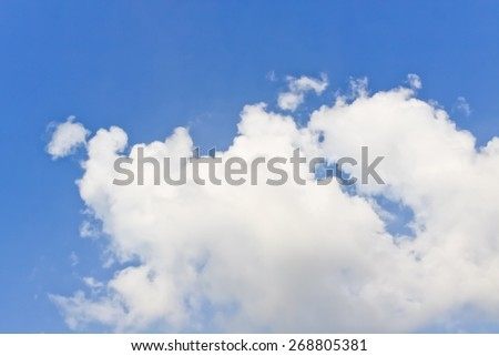 Blur background of blue sky cloudy.,nature background. - stock photo