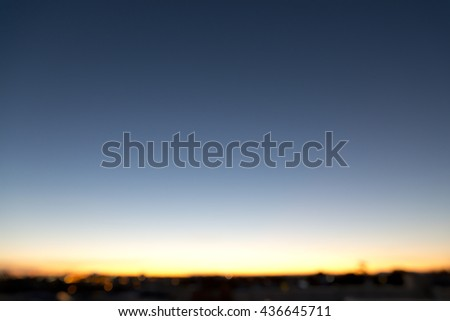 Blur background of sunset in an urban city. - stock photo