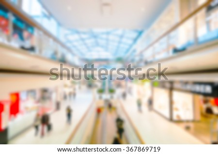 Blur background shopping mall - stock photo