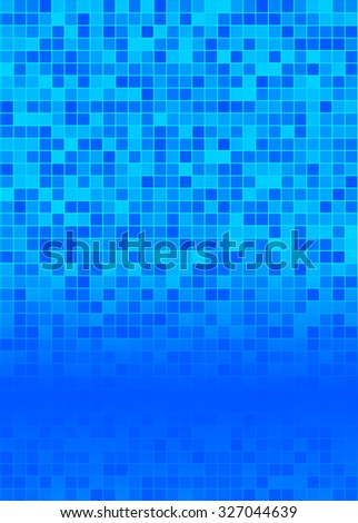 Blur blue gradient background of bright perspective with lighting glowing square. Graphic image templatev. Abstract Illustration 10 for your business brochure - stock photo